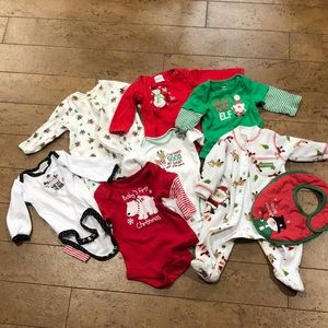 Other - 0-3 m Christmas lot of onesies various brands
